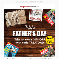 Extra 10% OFF Father's Day Gifts