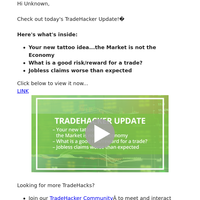 Your New Tattoo Idea...the Market is Not the Economy [TradeHacker Update]