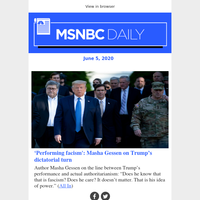 Fascism 'is Trump's idea of power'