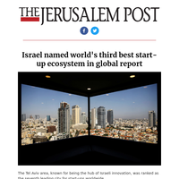 Israel named world's third best start-up ecosystem in global report