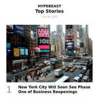 Top Stories This Week: New York City Will Soon See Phase One of Business Reopenings and More