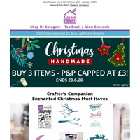 Christmas Favourites from Crafter's Comanion & More