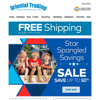 Up to 50% off All Things Patriotic + Free Shipping