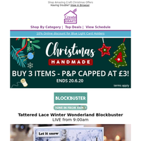Craft Christmas Specials from Tattered Lace + Stephanie Weightman