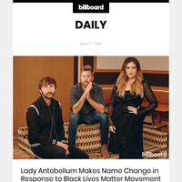 Lady Antebellum Makes Name Change in Response to Black Lives Matter Movement