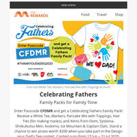 {NAME}, Father's Day Family Packs up for grabs! Cashback on Books, Manga, Headphones, Footwear and more!