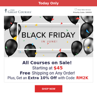 Black Friday in June - Every Course On Sale!