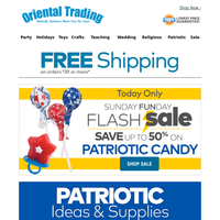 Save BIG on Patriotic Candy PLUS Free Shipping