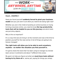 {NAME}, are you using the right tools to work from home?