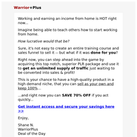 Sell this work-from-home training and keep 100%...