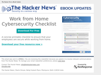 Work from Home Cybersecurity Checklist