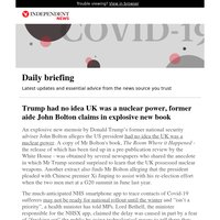 Trump had no idea UK was a nuclear power, former aide John Bolton claims in explosive new book
