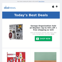 Up to 55% off Wayfair Garage Organization Sale  | Craftsman Extreme Grip 5-Piece Wrench Set for $16 | Lenovo ThinkCentre Desktop for $399