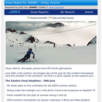 J2Ski Solstice Snow Report 2020