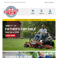 Happy Father's Day - Last Day to Save Up to $200