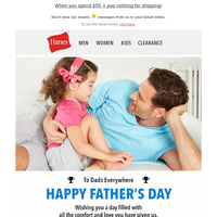 Happy Father's Day! Celebrate Dad with comfort & 20% off