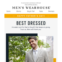 Happy Father's Day! $119.99 best-dressed suits