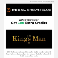, Get 100 Credits when you watch this New King's Man trailer....Plus, last chance Father's Day gift!🍿