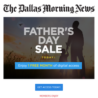 Celebrate Father's Day with 1 FREE Month. Ends Today!