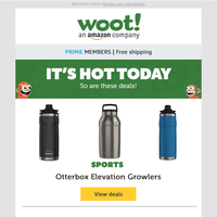 Otterbox Elevation Growlers, Big Ass TVs, Video Games, Patriotic Apparel and MORE!