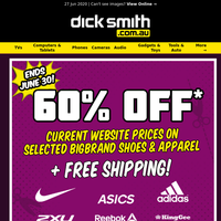 FREE Shipping + 60% OFF Big Brand Shoes & Apparel!*