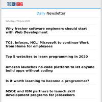 Why fresher software engineers should start with Web Development | TCS, Infosys, HCL, Microsoft to continue Work from Home for employees