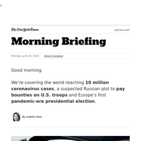 Your Monday Briefing