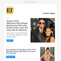 "August Alsina claims his relationship with Jada Pinkett Smith had Will Smith's ""blessing\"