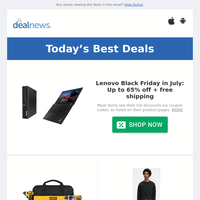 Up to 65% off Lenovo Black Friday in July | Up to 40% off DeWalt Tools at Amazon | Up to 50% off Storage Clearance Deals at Wayfair