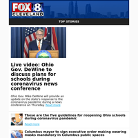 Live video: Ohio Gov. DeWine to discuss plans for schools during coronavirus news conference