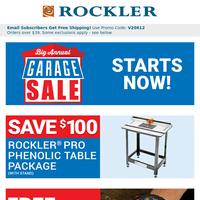 BIG Garage Sale, BIG Bargains – Starts Now!