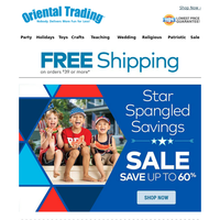 60% off All Patriotic PLUS Free Shipping