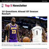 10 Questions Ahead Of Season Restart | Black Lives Matter | Teams That Could Rise Or Fall
