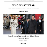 French women over 50 all own these 6 items