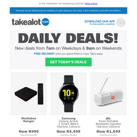 DAILY DEALS | Get work from home essentials exclusively on the app today!