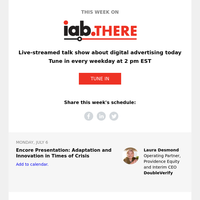 This Week on IAB THERE