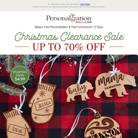 🎄 70% Off Christmas Clearance Sale Starts Now