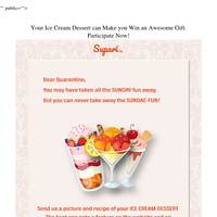 Your Ice Cream Dessert can Make you Win an Awesome Gift. Participate Now!