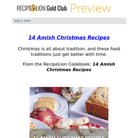 Christmas in July! 14 Amish Christmas Recipes