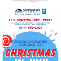 Free Shipping Ends Today | 50% Off or More ~ Christmas in July Sale!