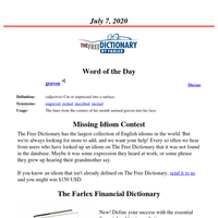 Word of the Day, July 7, 2020