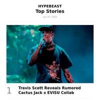 This Week's Top Stories: Travis Scott Reveals Rumored Cactus Jack x EVISU Collab and More