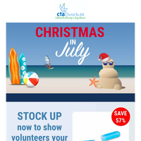 🎄☀️ Christmas in July! Thank Your Volunteers!