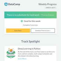 New track: Deep Learning in Python