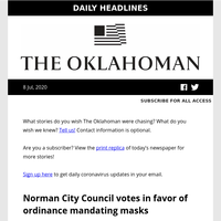 Norman City Council votes in favor of ordinance mandating masks; Millions raised to bail out Black Lives Matter protesters; and more