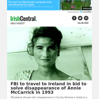 FBI to travel to Ireland in bid to solve disappearance of Annie McCarrick in 1993