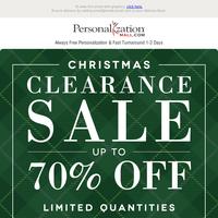 Christmas Clearance Sale Ends Soon!