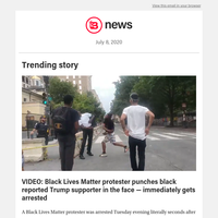 VIDEO: Black Lives Matter protester punches black reported Trump supporter in the face — immediately gets arrested