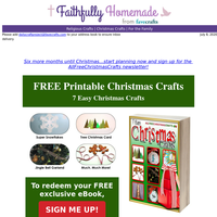 Plan Ahead:  7 Easy Christmas Crafts for You!