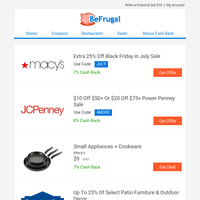 Small Kitchen Appliances $9 | 50-Pack Disposable Masks $15 | Logitech Wireless Mouse $9 | Macy's Black Friday in July | Sharpies: 5 for $2 | Converse Chuck Taylor's $18 | More